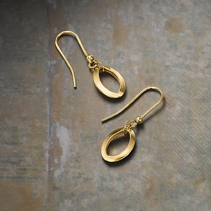 Gold Infinity Links Earrings