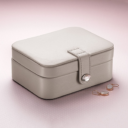 Oyster Grey Jewellery Travel Case