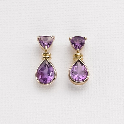 Amethyst Tears Drop Earrings