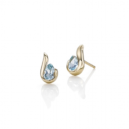 Hooked by Topaz Earrings