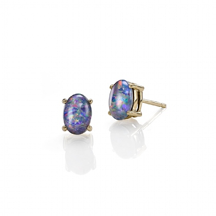 Opal Essence Stud Earrings